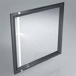 PO.mi.80\BLK  Панель с зеркалом POMPEI, 80 см черный - фото 39065