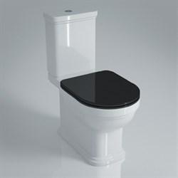 PO.seat.01\BLK Сиденье POMPEI Soft close + Clip up черный - фото 39157