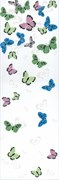STG/A134/12037 Декор Праздник красок бабочки 25х75