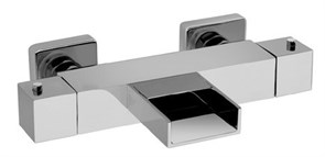 84CR111THWF Dax-R смеситель для ванны термостатический без аксессуаров (хром), с каскадным изливом