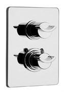 73OP691TH Morgana смеситель для душа встроенный термостатический с переключателем, корпус золото PVD