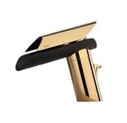 73OP211LZ Morgana смеситель для раковины с д/к, корпус золото PVD, излив венге