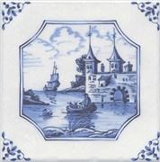 5221/3F Декор Английский Делфт Крепость 20х20х6,9