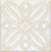 STG/B402/1266 Вставка Амальфи орнамент белый 9,9х9,9х7