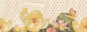 HGD/B56/4x/8260 Панно Летний сад беж, панно из 4 частей 20х30 (размер каждой части) 80х30х6,9
