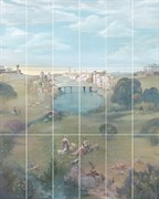 VB/A01/18x/7071T Панно Резиденция Пейзаж, панно из 18 частей 20х50 (размер каждой части) 120х150х8