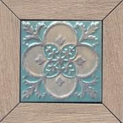 ID61 Вставка Меранти пепельный светлый мозаичный 13х13х11
