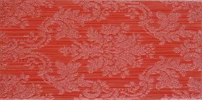 25x50 Decorado Line Damasco Rojo