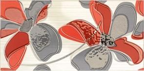 25x50 Decorado Line Flor Rojo