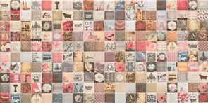 25x50 Decorado Mosaico Crema Bano