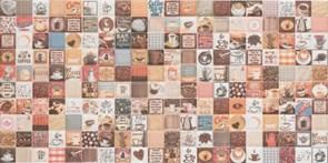 25x50 Decorado Mosaico Crema Cocina