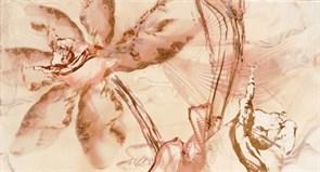 32,5x60 Decorado Secrets Crema Flor 1