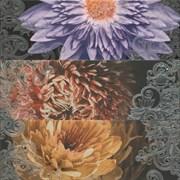 Composicion 2210 Lila-Turquesa-Marengo Garden III 67,5x67,5 из 3 штук
