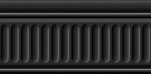 19031/3F Бордюр Карнавал в Венеции черный структурированный 20х9,9х6,9