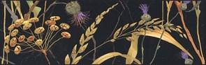 SST/A03/12000R Бордюр Астория Птицы черный обрезной 25х8х9
