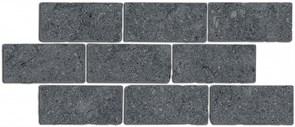 BR021 Бордюр Роверелла серый темный мозаичный 34,5х14,7х11