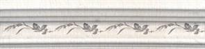 BLB028 Бордюр Багет Кантри Шик белый декорированный 20х5х19