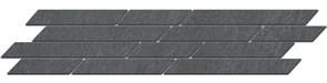 SG144/005 Бордюр Гренель серый темный мозаичный 46,5х9,8х11