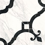 ID88 Декор Фрагонар наборный белый 1/4 розона 30х30х11