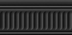19049/3F Бордюр Бланше черный структурированный 20х9,9х9,2