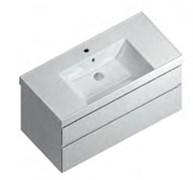 CU.100\WHT Тумба CUBO 100 см подвесная 2 ящика, белый глянец