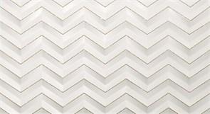3D White Chevron Glitter Matt/3Д Вайт Шеврон Глиттер Матт 30,5x56 600080000407